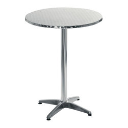 Eurø Style - Allan Bar Table in Stainless/Aluminum - Perfect for placing drinks or a snack for your friends and guests, this modern Allan Bar Table in Stainless/Aluminum - Euro Style adds chic and modern style to any space!