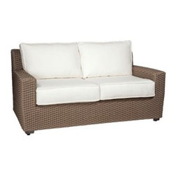 Whitecraft - Whitecraft Augusta Loveseat - As firm believers in tradition and a strong belief in the art of craftsmanship Woodard has acquired Whitecraft Furniture the longest-lasting wicker company in the U.S. While wicker is known for its strength and durability those attributes are overshadowed by the ingenuity and elegance of Whitecraft furniture. Handcrafted and built to last. Whitecraft by Woodard is the beautiful woven patio furniture counterpart to Woodard's wrought iron and aluminum lines. With a variety of styles and finishes to fit your outdoor needs. Escaping to your own private outdoor oasis soothes the soul. Whether you're looking to create a casual seating area a sophisticated outdoor dining space or a complete outdoor room you'll find everything you need right here. Make a personal style statement—elegant exotic traditional modern or transitional—whether you have a covered porch deck pool-side patio or garden nook. We have the styles finishes fabrics and designs to fit any need. Whitecraft patio furniture has been creating hand-crafted patio furniture for almost 100 years. Whitecraft patio furniture quality designs and comfort have allowed Whitecraft the opprotunity to enlarge their offerings year after year.