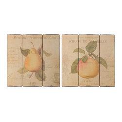 Uttermost - Uttermost French Fruit Wall Art, S/2 - 51080 - Uttermost French Fruit Wall Art, S/2 - 51080