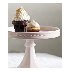 "Rosanna - Pink Porcelain Small Rimmed Cake Stand - Dress up your cupcakes and mini confections in a most charming and dramatic fashioned with our exquisite porcelain dessert pedestal! Showcasing items on our lovely cake stand will bring fun to any occasion- from your bakery or catered event to birthday parties, showers, weddings and grand celebrations! Mix and match.....add some color by combining the pink, blue and white porcelain cake stands. * Dimensions: H: 7"" W: 8.5"" * Arrives in a coordinating gift box, making storage ideal and passing along special * Glass dome sold separately, item R74540"
