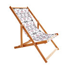 Gallant & Jones - Blossomed Deck Chair - Deck chair with Fabric Sling and Pillow