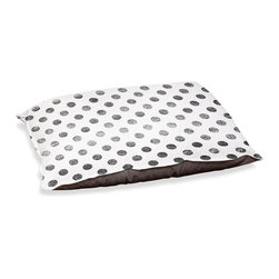 "DiaNoche Designs - Dog Pet Bed Fleece - Colored Dots Graphite - DiaNoche Designs works with artists from around the world to bring unique, designer products to decorate all aspects of your home.  Our artistic Pet Beds will be the talk of every guest to visit your home!  BARK! BARK! BARK!  MEOW...  Meow...  Reallly means, ""Hey everybody!  Look at my cool bed!""  Our Pet Beds are topped with a snuggly fuzzy coral fleece and a durable underside material.  Machine Wash upon arrival for maximum softness.  MADE IN THE USA."