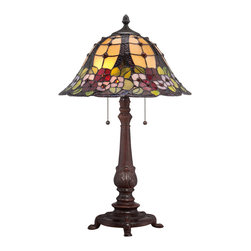 Quoizel - Quoizel TF1489TRS Tiffany 2 Light Table Lamps in Russet - This 2 light Table Lamp from the Tiffany collection by Quoizel will enhance your home with a perfect mix of form and function. The features include a Russet finish applied by experts. This item qualifies for free shipping!