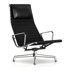 Herman Miller - Eames Aluminum Lounge Chair with Headrest - Is this really a chair, you ask? Could it be a sculpture from the Museum of Modern Art? No, it's an Eames chair made for kicking back and relaxing. As good to look at as sit in, the suspended upholstery and lightweight aluminum frame makes for a cool, comfortable ride. Yea!