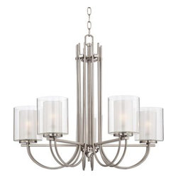"Melody 26 3/4"" Wide Brushed Steel Chandelier -"