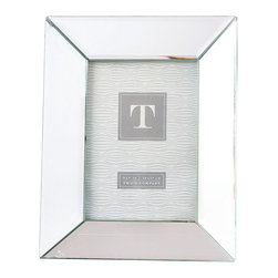 Reflections Beveled Mirror Photo Frame - 5 x7 - Make your memories glow with the sleek, striking composition of bright mirrored tiles surrounding the Reflections Beveled Mirror Photo Frame. Inviting you into the scene of a small art print or a candid family snapshot, this frame is constructed with a minimal design so that it increases the glamorous light of your room while keeping the focus on its contents.
