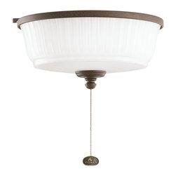 DECORATIVE FANS - KICHLER FANS 380900TZP Tannery Bronze Ceiling Fan Light Kit - Optional remote control operation requires KCH-337214 control system.