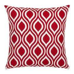 Look Here Jane, LLC - Nicole Red Pillow Cover - PILLOW COVER