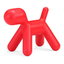Zuo Modern - Zuo Pup Chair in Red - Chair in Red belongs to Pup Collection by Zuo Modern Surprise children with a puppy without worry about allergies! The polypropylene-based Pup kid's chair is built for rough handling and hours of fun. Chair (1)