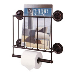 Organize it all estate magazine rack brown perfect for Houzz magazine