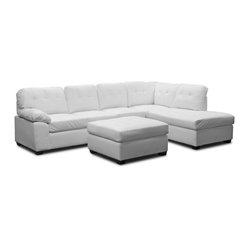 baxton studio baxton studio mario white leather modern