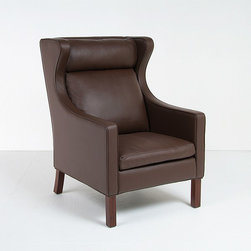 Modern Classics - Mogensen: Model 2204 Wing Back Chair Reproduction - Features: