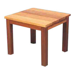 Red Cedar End Table - A necessary addition to any seating group is a place to set your book, glasses or drink!  Our Red Cedar End Table is the perfect addition to any style furniture.  The simple lines of this table allow you to use with with mission style, traditional or even modern style patio furniture.