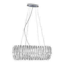 EGLO - Eglo 89204A Chrome 8X40W Chandelier Hanging Light - EGLO 89204A Chrome 8x40W Chandelier Hanging Light