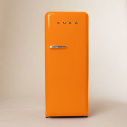 Smeg Refrigerator, Orange - While not in my immediate budget (grin), this classic Smeg refrigerator had to make the cut. I can't even imagine the jaw-dropping impact it would have on my kitchen.