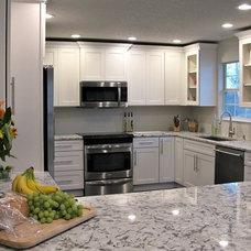 Contemporary Kitchen New kitchen using cliq studio cabinets and blue ice granite