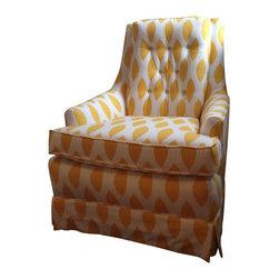 Mid-Century Chair Reborn in Ikat Print - $850 Est. Retail - $450 on Chairish.com -