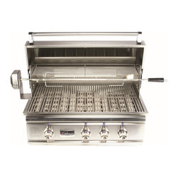 "Summerset Grills - 32"" TRL Stainless Steel Propane Gas Grill - #304 & #443 Stainless Steel Construction"