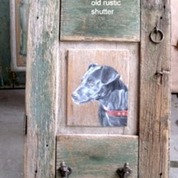 Black Lab Dog Painted On Old Reclaimed Wood - Made by http://www.ecustomfinishes.com