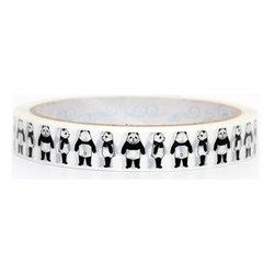 cute panda bears Deco Tape black panda Japan - black Panda Bears Deco Tape