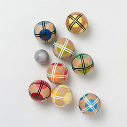 Bocce Ball Set - Bocce is one of my favorite outdoor games. Host a weekend tournament in your backyard with this fun and colorful set.