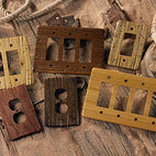 Buckboard Switchplates - Buckboard Switchplates are versitile in style and go well with all types of rustic furniture in homes, cabins, and lodges