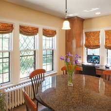 Traditional Roman Blinds by Leslie Dohr Interior Design LLC