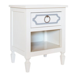 Newport Cottages - Beverly Nightstand - Adding a touch of Hollywood style to your little one's room is easily done with this classic nightstand. With its refined good looks and appeal, it's sure to become a staple bedroom essential for many years.