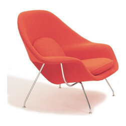 Saarinen Large Womb Chair   YLiving - We love Eero Saarinen's Womb Chair so much we've dedicated an entire Modern Icons ideabookto it. Snuggle up in this comfy armchair and you'll never want to get out.