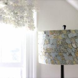 Map Lampshade by ECLU