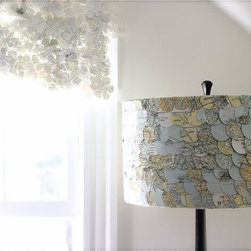 Map Lampshade by ECLU - Curl up with your favorite travel book or photo album under this sweet and delicate lamp.