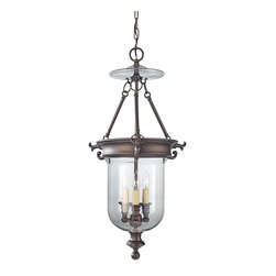 "Murray Feiss - Iron Murray Feiss 15 3/4"" Wide 3-Light Bronze Chandelier - The Luminary collection features bright transitional style designs that are a wonderful refreshment of traditional lighting styles. This oil-rubbed bronze hall or entry chandelier features a clear glass inverted dome design with a cluster of three classic candelabra style lights in the center. From Murray Feiss the design is timeless and alluring. Oil-rubbed bronze finish. Clear glass. Entry or hall chandelier style. Takes three maximum 60 watt candelabra bulbs (not included). Includes 6 feet chain 8 feet lead wire. 28 3/4"" high. 15 3/4"" wide. Overall 104 3/4"" maximum hanging height. Canopy is 5"" wide. Hang weight 8 lbs.  Oil-rubbed bronze finish.  Clear glass.  Entry or hall chandelier style.  Takes three maximum 60 watt candelabra bulbs (not included).  Includes 6 feet chain 8 feet lead wire.  28 3/4"" high.  15 3/4"" wide.  Overall 104 3/4"" maximum hanging height.  Canopy is 5"" wide.  Hang weight 8 lbs."