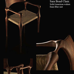 Sara Bond Armchair. Solid american walnut. - Amazing piece of wooden art designed and handcraft by one of the most important artisan os Spain.