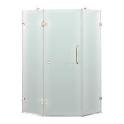 "VIGO Industries - VIGO 36 x 36 Frameless Neo-Angle 3/8"" Shower, Right - Both dramatic and space-saving, the VIGO frameless neo-angle shower enclosure creates a beautiful focal point for your bathroom."
