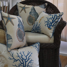 Tropical Decorative Pillows by Lagnappe Custom Interiors