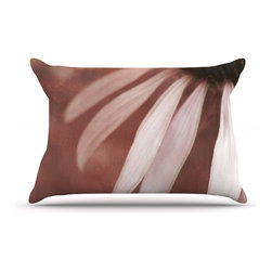 "Kess InHouse - Iris Lehnhardt ""Copper and Pale Pink"" Brown Flower Pillow Case, King (36"" x 20"") - This pillowcase, is just as bunny soft as the Kess InHouse duvet. It's made of microfiber velvety fleece. This machine washable fleece pillow case is the perfect accent to any duvet. Be your Bed's Curator."