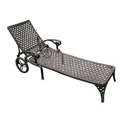 Princeton Cast Aluminum Chaise Lounge Chair - With an adjustable backrest, the Princeton Cast Aluminum Chaise Lounge Chair is premium in comfort. Pair with other Princeton Collection outdoor furniture for a customized patio set.