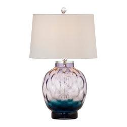 Bassett Mirror Company - Bassett Mirror Pinot Table Lamp - Purple Shaped Glass - Pinot Table Lamp - Purple Shaped Glass belongs to MidCentury Groove Collection by Bassett Mirror Company Pinot Table Lamp - Purple Shaped Glass Lamp (1)