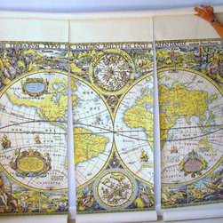 Wallpaper Mural Large Scale Map Of The World By The Vintage Mistress - A large wall map, because you need to know where you are going. These are so great!