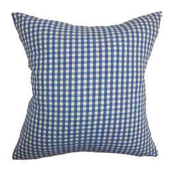 The Pillow Collection - Wren Blue 18 x 18 Plaid Throw Pillow - - Pillows have hidden zippers for easy removal and cleaning  - Reversible pillow with same fabric on both sides  - Comes standard with a 5/95 feather blend pillow insert  - All four sides have a clean knife-edge finish  - Pillow insert is 19 x 19 to ensure a tight and generous fit  - Cover and insert made in the USA  - Spot clean and Dry cleaning recommended  - Fill Material: 5/95 down feather blend The Pillow Collection - P18-D-32106-DEMIN-C100