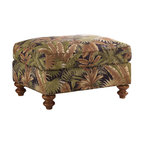 Lexington - Tommy Bahama Home Island Estate West Shore Ottoman - A classic ottoman with timeless comfort that makes a perfect accent in a living room. Featuring a semi-attached top, this ottoman is luxurious in its tropical style. The turned legs add a traditional touch to your d'cor. Use this ottoman with the West Shore Chair or Sofa for a unified design. The West Shore Ottoman can easily be used as an extra seat or a foot rest after a long day!