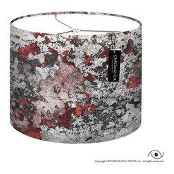 Drum Lamp Shade - Repainted. -