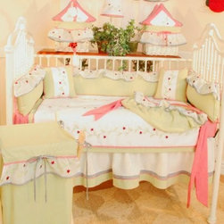 Brandee Danielle Red Ladybugs 4 Piece Crib Bedding Set - The light and airy color scheme of the Brandee Danielle Red Ladybugs 4 Piece Crib Bedding Set sets a soothing, fun tone for your little one. Made from child-safe and machine-washable cotton, the thoughtful colors won't be the only thing lulling your baby to sleep. Let them feel the care they deserve in addition to this set's quaint design.