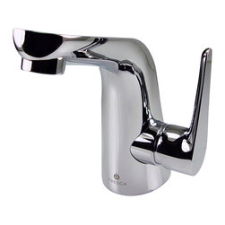 Fresca - Fresca Cesano Single Hole Mount Bathroom Vanity - Chrome - This single hole faucet is made from heavy duty brass with a chrome finish. Features a Hydroplast mixing valve with water saving control.