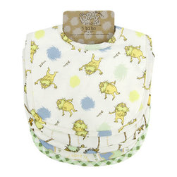 """Trend Lab - Bouquet 3 Pack Bib - Dr. Seuss The Lorax - Keep messes to a minimum with this stylish Dr. Seuss The Lorax 3 Pack Bib Set by Trend Lab. Set features 3 unbleached cotton bibs with Lorax prints on the front and absorbent unbleached cotton terry on the back. Bib set includes: one """"Save the Earth for me"""" print, one Lorax and Truffula tuft scatter print, and one """"I speak for the trees"""" print all in an earthy color palette of blue fog, sunshine yellow, honeydew, squash, brown sugar, pumpkin and chocolate. Each bib measures 9"""" x 12"""" with Velcro closure. Bib Set coordinates with the Dr. Seuss The Lorax collection by Trend Lab. Product sold under license from Dr. Seuss Enterprises, L.P. The Lorax Project is a multifaceted initiative that helps generate funding, raise awareness and inspire earth-friendly action by generations of passionate individuals worldwide. Trend Lab is proud to help save the earth for our little ones."""