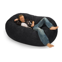 Relax Sacks - Colossa Sac Bean Bag Sofa - This oval shaped version of the classic bean bag chair is the Cadillac of modern foam filled chair. Relax Sacks are often touted by fans as, ''the most comfortable chair in the world''. They are a perfect way to create a relaxed, informal setting or liven up your home theatre, gaming room or playroom. Giant foam sofa sacks are perfect for watching TV, gaming, listening to music or just relaxing. Relax Sacks are comprised of only the finest materials available, far exceeding those of other brands. Double top stitched seams on both inner liner and outer covers securely bond the highest grade fabric to ensure no failures occur for years to come. Unlike the classic bean bags of the 70's which were filled with styrofoam beads that quickly broke down and lost their shape, our polyurethane foam is made in the USA, trimmed in US furniture factories, and finally shredded and stuffed in our facility located in the heartland of America. Over a dozen years of research and fine tuning have combined to create a perfect marriage between such factors as: size, density, and amount of shredded foam, breathability, durability, and comfort of fabric, size, brand, and safety of zippers. Consider carefully all factors when purchasing this piece of furniture and remember not all giant foam bag chairs are created equal. Restoring the puffiness of your chair is easy, simply roll it around on the floor until you have sufficiently fluffed the life back. We strongly suggest you frequently fluff your chair to maintain the integrity and soft feel of the foam. Features: -Premium YKK 5 zippers.-Durable 220 GSM fabric.-Double top stitched seams.-ISTA 3A certified.-Machine washable zip-off cover.-Collection: Colossa.-Distressed: No.-Country of Manufacture: United States.Specifications: -USA made foam 2CFW.Dimensions: -Overall Product Weight: 70 lbs.Warranty: -1 Year warranty.
