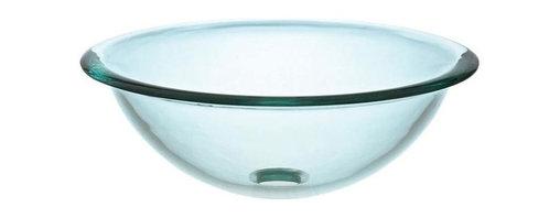 Pegasus - Glass Vessel Sink w Rim - GVS165RIM - Manufacturer SKU: GVS165RIM. Made from tempered glass. 16.5 in. Dia. x 6.6 in. H (16 lbs.)