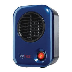Lasko Products - My Heat Personal Heater Blue - Blue MyHeat Concentrated Personal Heater supplies Energy-Smart 200 Watts of Warmth 3-Step Ceramic Safety System Fully Assembled ETL Listed. This item cannot be shipped to APO/FPO addresses. Please accept our apologies.