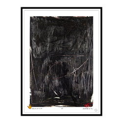 Studio Eight - Contemporary Modern Abstract Fine Art, SIMONA, by Charles Sabec, 2014, Black - SIMONA, by Charles Sabec, 2014.