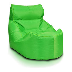 Turbo BeanBags - Beanbag Boat, Green, Filled Bag - Boat Beanbag is a model apart by it's simplicity and extreme comfort.
